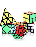 cheap -Speed Cube Set 5 pcs Magic Cube IQ Cube 2*2*2 3*3*3 4*4*4 Speedcubing Bundle 3D Puzzle Cube Stress Reliever Puzzle Cube Smooth Office Desk Toys Brain Teaser Pyramid Megaminx Skew Kid's Adults Toy Gift