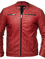 cheap -mens antique cafe racer biker vintage motorcycle red rider faux leather jacket