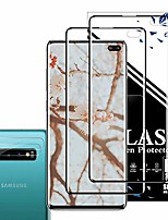 cheap -galaxy s10 plus screen protector + camera lens protector by eeshell, [2 pack + 2 pack] [new version] [case friendly] [fingerprint compatible] [edge covered] for samsung galaxy s10 plus