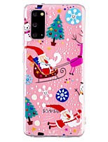 cheap -Case For Samsung Galaxy A21S Transparent Pattern Back Cover Christmas TPU Galaxy A11 A31 A41 A51 A71 A10 A20 A30 A40 A50 S10E S9 Plus S20 Ultra