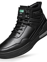cheap -Men's Trainers / Athletic Shoes Casual Daily Cowhide Black Spring / Fall