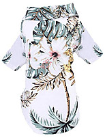 cheap -doggie summer pineapple print polo t shirts hawaiian style sun protection lightweight pet air conditioning clothes dog cotton sunscreen t-shirtfor small, extra small dog white xs