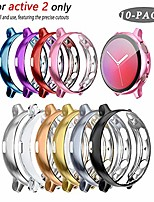 cheap -[10-pack] case compatible with galaxy watch active 2 40mm full cover case screen protector, soft plated tpu scratch resistant slim all-around protective case