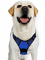 "cheap -dog harness, no-pull pet harness with 2 leash clips, adjustable soft padded dog vest, reflective no-choke pet oxford vest w/easy control handle for large breeds, navy (xl, chest 20.3-39.6"")"