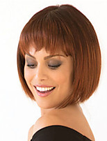 cheap -Synthetic Wig Straight With Bangs Wig Short Dark Brown Synthetic Hair Women's Fashionable Design Exquisite Dark Brown