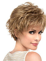 cheap -Synthetic Wig Curly Pixie Cut Asymmetrical Wig Short Light Brown Synthetic Hair Women's Fashionable Design Cool Exquisite Light Brown