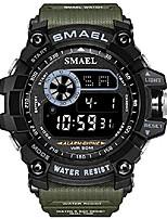 cheap -mens sports digital watch multifunctional military 50m waterproof led alarm backlight super cool watch (green)
