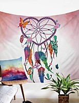 cheap -Wall Tapestry Art Decor Blanket Curtain Picnic Tablecloth Hanging Home Bedroom Living Room Dorm Decoration Polyester Heart Starry Dream Catcher Beauty View