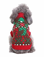 cheap -pet christmas coat costume winter warm knit dog sweaters jacket holiday festive collections outerwear puppy dog snow outfit apparel