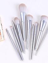 cheap -8 Pcs/10 Pcs Wooden Handle Makeup Brush Set Storage Loose Powder Blush Brush Beauty Tools Complete Set