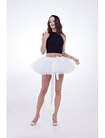 cheap -Ballet Dancer Petticoat Hoop Skirt Tutu Women's Movie Cosplay Vacation Classic Lolita White / Black / Purple Skirts Halloween Carnival Masquerade Organza Cotton