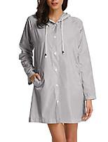 cheap -raincoat womens lightweight hooded rain jacket(x-large,gray)