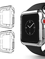 cheap -for iwatch 3 bumper 38mm, soft tpu protective case cover for iwatch series 1 series 2 series 3 nike+ sport edition, clear