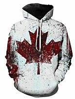cheap -Inspired by Cosplay Maple leaves Cosplay Costume Hoodie Plush Fabric 3D Printing Hoodie For Men's / Women's