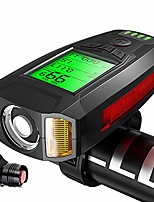 cheap -the new bicycle code dial with horn headlights bike headlights wireless code dial with lights. code meter black plus gem tail light.