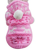 cheap -knit dog hoodie sweater pet cat puppy coat small pet dog warm costume apparel (pink)