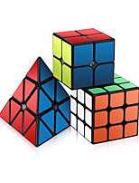 cheap -Speed Cube Set 3 pcs Magic Cube IQ Cube 2*2*2 3*3*3 Speedcubing Bundle Stress Reliever Puzzle Cube Stickerless Office Desk Toys Brain Teaser Pyramid Kid's Adults Toy Gift