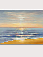 cheap -Oil Painting Hand Painted - Abstract Landscape Comtemporary Modern Stretched Canvas