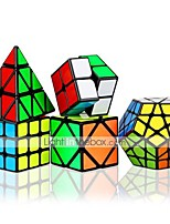 cheap -Speed Cube Set 5 pcs Magic Cube IQ Cube 2*2*2 3*3*3 Speedcubing Bundle 3D Puzzle Cube Stress Reliever Puzzle Cube Smooth Office Desk Toys Brain Teaser Pyramid Megaminx Skew Kid's Adults Toy Gift