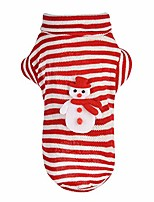 cheap -pet dog christmas winter stripe snowman printed fun sweater coat costume