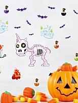 cheap -Skull Unicorn Wall Sticker Indoor Halloween Cartoon Children'S Room Background Wall Pvc Graffiti Sticker