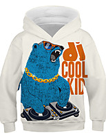 cheap -Kids Toddler Boys' Active Streetwear Graphic Letter Print Long Sleeve Hoodie & Sweatshirt White