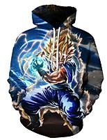 cheap -Inspired by Dragon Ball Saiyan Cosplay Costume Hoodie Terylene 3D Printing Hoodie For Men's / Women's