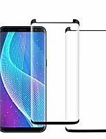 cheap -[2 pack] galaxy s9 plus screen protector, full coverage [3d curved] tempered glass [anti-scratch] ultra thin hd clear 9h hardness screen protector compatible samsung galaxy s9 plus