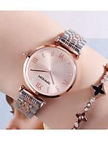 cheap -Women's Quartz Watches Quartz Stylish Fashion Water Resistant / Waterproof Analog White Gold Gray / One Year