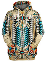 cheap -Inspired by American Indian American Indian Cosplay Costume Hoodie Terylene 3D Printing Hoodie For Men's / Women's