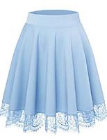 cheap -womens skirts below the knee length summer short for work office light blue s