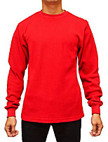 cheap -men's big & tall heavyweight long sleeve thermal crew neck top (4x, red)