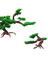 cheap -1pc Artificial Plastic Bonsai Pine Tree Aquarium Bonsai Ornament Fish Tank Artificial Pine Tree Plant Decor Aquarium Accessories