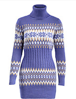 cheap -Women's Shift Dress Short Mini Dress - Long Sleeve Print Print Fall Casual 2020 White Black Royal Blue S M L XL