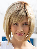 cheap -Synthetic Wig Straight Bob Wig Blonde Short Blonde Synthetic Hair Women's Fashionable Design Exquisite Comfy Blonde