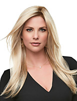 cheap -Synthetic Wig Straight Asymmetrical Wig Long Blonde Synthetic Hair Women's Fashionable Design Exquisite Comfy Blonde