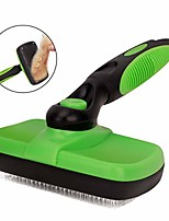 cheap -pet grooming brush, self cleaning slicker brushes hair shedding tools for grooming small, medium & large cats and dogs with long thick hair