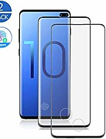 cheap -[2 pack] galaxy s10 plus tempered glass screen protector [fingerprint scanner compatible] [full covered] [anti-dirty] case friendly glass protector for samsung galaxy s10 plus (6.4'')