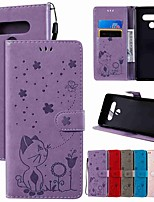 cheap -Case For LG LG Stylo 4 / LG K40 / LG K10 2018 Wallet / Card Holder / with Stand Full Body Cases Solid Colored / Animal PU Leather / TPU