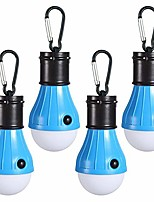 cheap -led camping light, [4 modes] portable led camping tent lantern for hurricane emergency hiking fishing storm outage battery powered outdoor tent lamp aaa batteries not included [ 4 pack ]