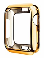 cheap -case for watch 38mm series 3 series 2 series 1 watch case with metaliz hood flexible clear soft tpu lightweight protective pretector cover-shiny gold