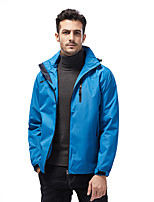 cheap -Men's Hiking Jacket Winter Outdoor Solid Color Waterproof Windproof Breathable Warm Jacket Full Length Hidden Zipper Hunting Ski / Snowboard Fishing Black Army Green Blue Grey