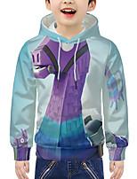cheap -Kids Boys' Active 3D Print Long Sleeve Hoodie & Sweatshirt Purple