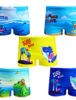 cheap -boys' swim trunks bottoms breathable quick dry drawstring - swimming patchwork