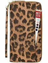 cheap -womens passport wallet travel rfid passport holder for women clutch wristlet id (leopard)