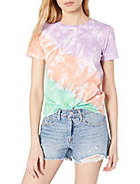 cheap -women's courtney short-sleeve tiny crewneck jersey t-shirt, violet tie dye, xs