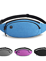 cheap -3 L Hiking Waist Bag Breathability Outdoor Hiking Running Polyester Black Grey Sky Blue