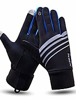 cheap -lightweight running gloves touch screen gloves for women men runner outdoor sports race trail fitness windproof thermal (blue, s)