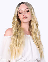 cheap -Synthetic Wig Wavy Loose Curl Middle Part Wig Long Black / Blonde Synthetic Hair Women's Fashionable Design Party Fashion Blonde