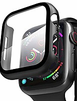 cheap -compatible apple watch case 44mm series 6/5/4/se with screen protector, overall full protective hard pc bumper case ultra-thin hd glass screen protector for iwatch series 4 5 6 se (44mm)
